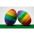 easter rainbow eggs vector image vector image