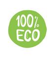 eco bio organic hand drawn doodle elements vector image vector image