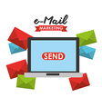 email marketing vector image vector image