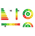 energy efficiency rating vector image vector image