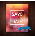 Eyecatching bold simple Save The Date template vector image vector image