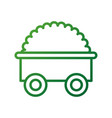 farm tractor trailer agriculture transport vector image vector image