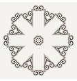 Filigree Flower Henna Pattern vector image vector image