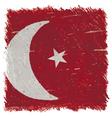 Flag of Turkey handmade square shape vector image