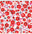 floral beautiful pattern with blossom cherry vector image