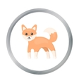 Fox icon cartoon Singe animal icon from the big vector image