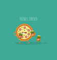 funny fast food set vector image vector image