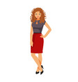 girl in office clothes vector image vector image