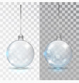 glass transparent christmas ball xmas vector image vector image