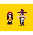 Goddess Katrina with Dead Mexican character for vector image vector image