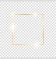 gold square frame golden luxury glow line border vector image vector image