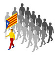 group of isometric people with vector image vector image