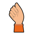 hand human fist icon vector image vector image