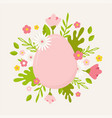 happy easter greeting card posteror banner vector image vector image
