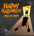 happy halloween with monster casting shadow vector image vector image