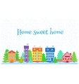 Houses in winter vector image vector image