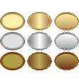 isolated medals vector image