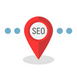 local seo flat icon seo and development vector image