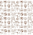 Logistic icons seamless pattern vector image vector image