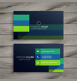 modern dark professional business card design vector image vector image