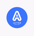 modern linear logo and sign letter a vector image