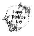 mother day background card flower vector image vector image