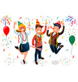new year bash people celebrating party vector image