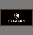 nh hexagon logo design inspiration vector image vector image