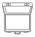 open suitcase icon outline style vector image vector image
