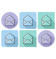 outlined icon open blank envelope vector image vector image