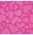 Pink lace hearts textile texture seamless pattern vector image vector image