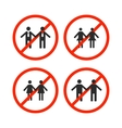 Prohibition sign for same-sex marriage vector image vector image