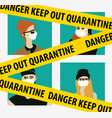 quarantine virus epidemic home isolation people vector image