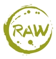 Raw food hand drawn isolated label vector image vector image