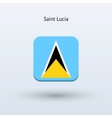 Saint Lucia flag icon vector image vector image