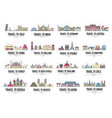 set banners with landmarks asia africa vector image vector image