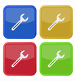 set of four square icons with spanner vector image vector image