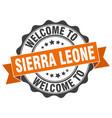sierra leone round ribbon seal vector image vector image