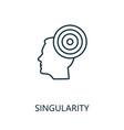 singularity thin line icon creative simple design vector image vector image