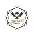 Steak House vintage Label with decoratiove vector image vector image