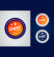 super quality badge with stars the premium vector image vector image