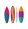 surfing boards icons vector image vector image