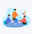 team meeting vector image vector image