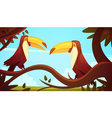 Toucan Birds Background Poster vector image vector image