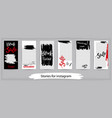 trendy editable templates for instagram stories vector image vector image