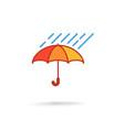 umbrella with rain vector image vector image