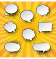 vintage speech bubble with sunburst poster vector image vector image
