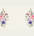 watercolor floral flower decoration background vector image vector image