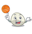 with basketball character cartoon homemade organic vector image