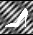 woman shoe sign icon hole in moire vector image